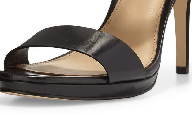 Michael Kors 'Claudia' Leather Mid-Heel Sandal