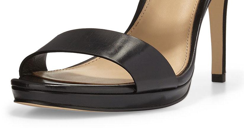 Michael Kors 'Claudia' Leather Mid-Heel Sandal