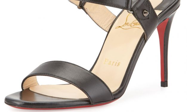 Christian Louboutin 'Sova' Leather 85mm Red Sole Sandal