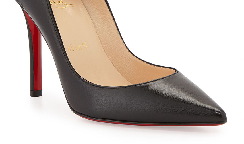 Christian Louboutin 'Apostrophy' Pointed Red-Sole Pump