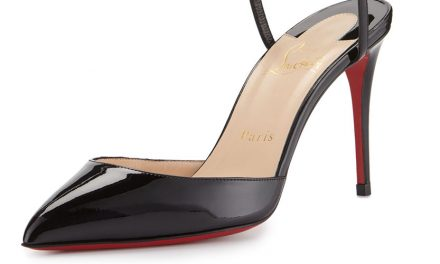 Louboutin 'Rivierina' Ankle-Wrap Red Sole Pump