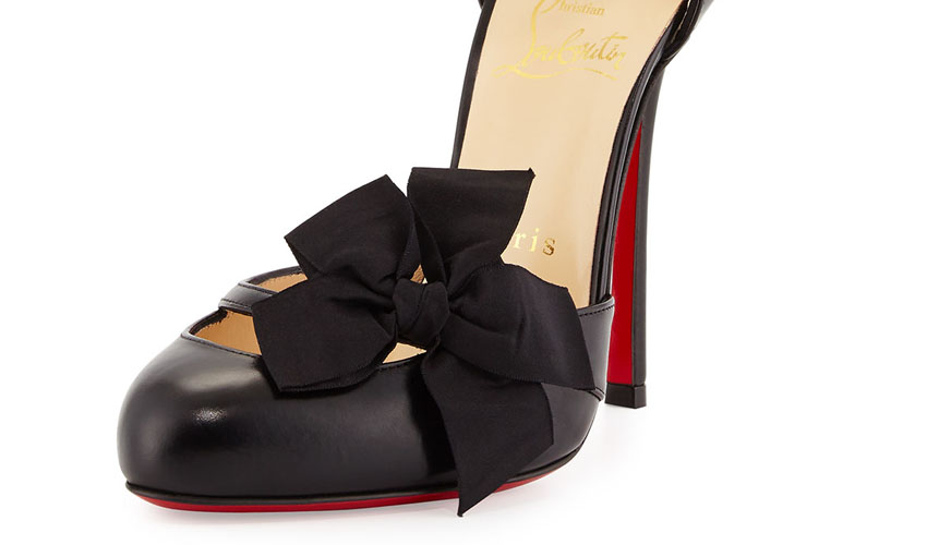 Christian Louboutin Fetish Bow d'Orsay Red Sole Pump