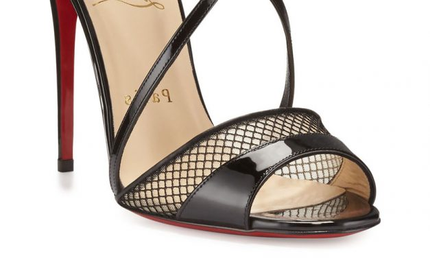 Christian Louboutin 'Slikova' Patent Mesh Red Sole Sandal