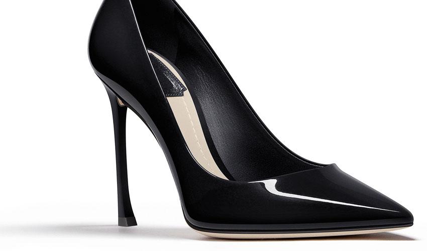 Christian Dior 'Dioressence' Black Patent Calfskin Pump