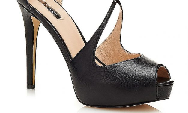 Guess 'Huete' open-toe leather Court Shoe