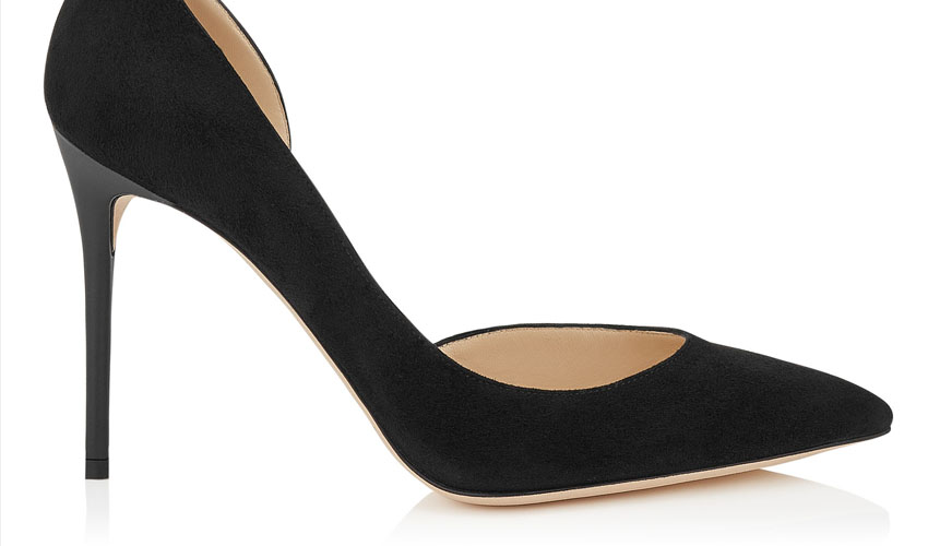Jimmy Choo 'Lucy 100' Black Suede Pointy Toe Pump