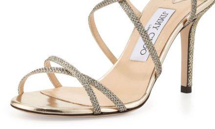 Jimmy Choo 'Elaine' Strappy Glitter Sandal
