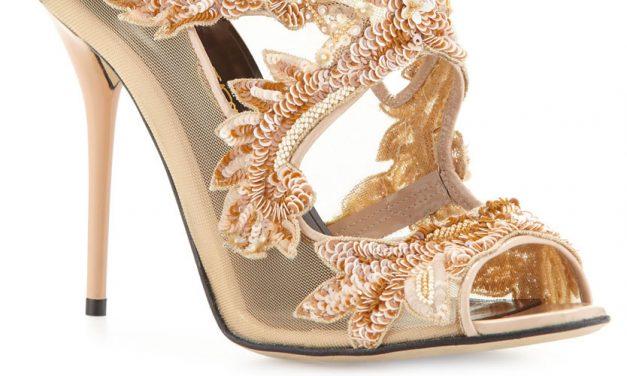 Oscar de la Renta 'Ambria' 4″ Leather Sandal