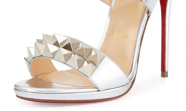 Christian Louboutin 'Miziggoo' Spiked Two-Band Sandal