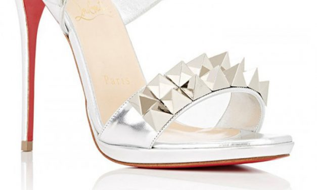 Christian Louboutin 'Miziggoo' Silver 120mm Sandal