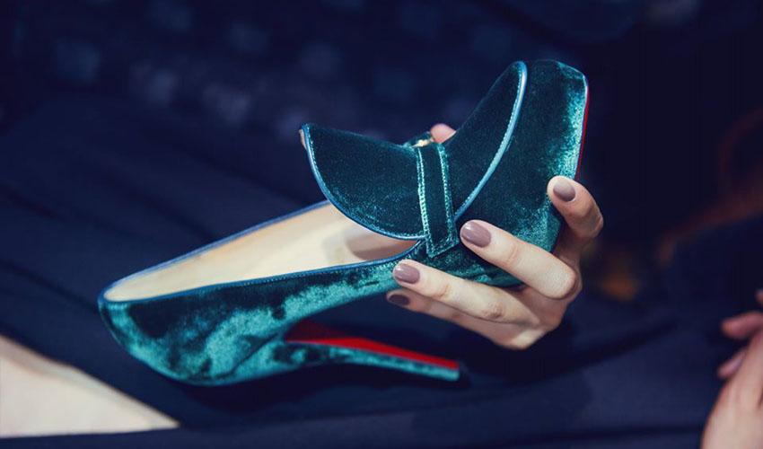 Ulyana Sergeenko's Couture Academics Louboutin collection