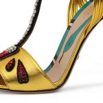 Gucci Allie Arrow-Appliqué Leather Sandal