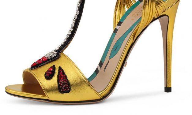 Gucci Allie Arrow-Appliqué Leather Sandal