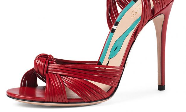 Gucci Allie Leather Knot Sandal
