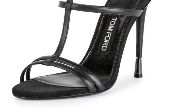 Tom Ford T-Strap Calfskin Sandal