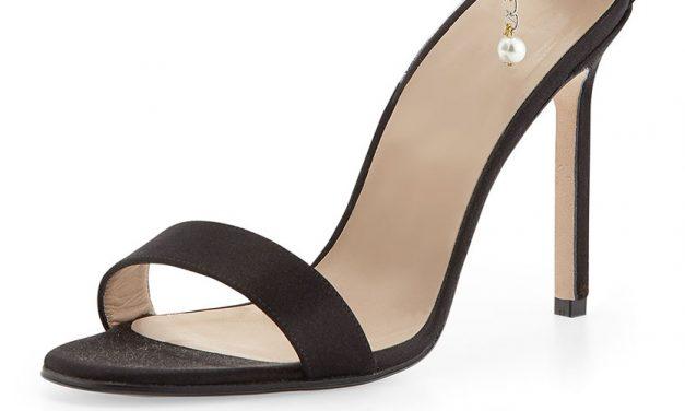 Manolo Blahnik 'Chaos' Pearly Ankle-Wrap Sandal