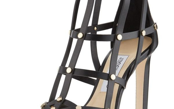 Jimmy Choo 'Tina' Studded Leather Cage Sandal