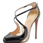 Louboutin Crossettinetta' Patent Red Sole Pump