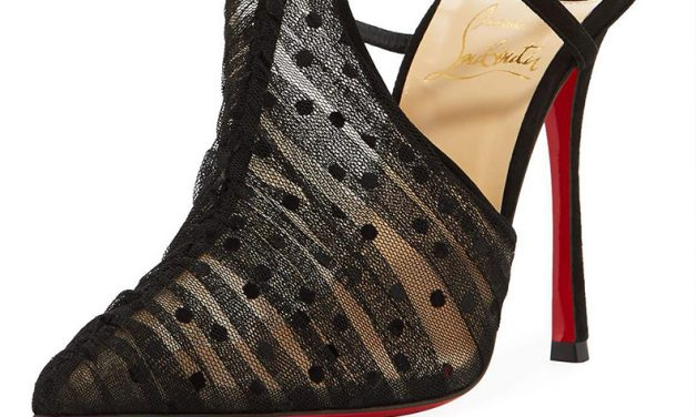 Louboutin 'Acide' Lace Tulle Pump